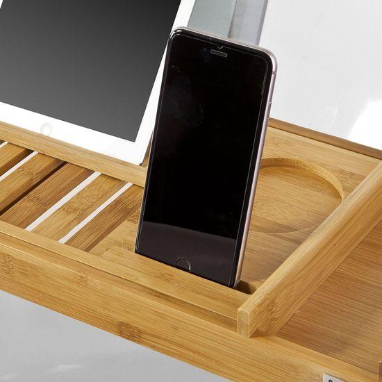 SoBuy FRG207-N vanová policová bambusová koupelnová deska