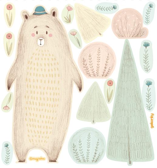 GEKONKY Medvěd Bonifác v lese