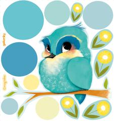 GEKONKY Ptáček Modráček a žluté kvítí