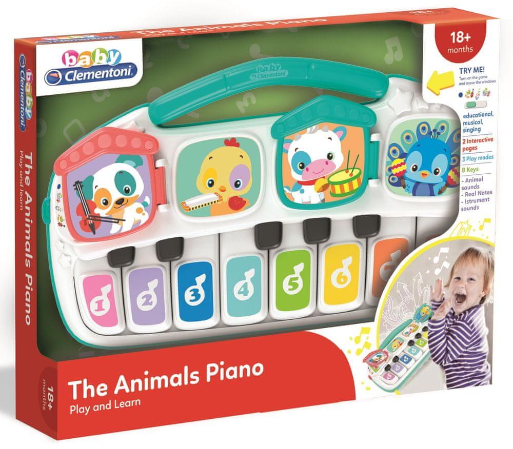 Hape Dětské elektrické piano se zvířátky - rozbaleno
