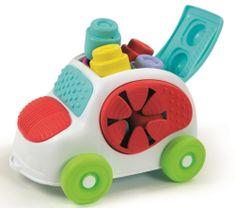 Clementoni wiadro z klockami - samochodzik Clemmy baby