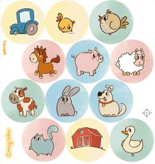 GEKONKY Veselé puntíky - farma