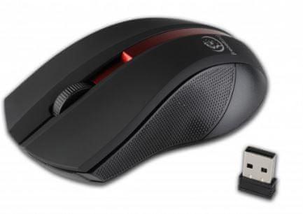 REBELTEC Galaxy brezžična miška, črno-rdeča