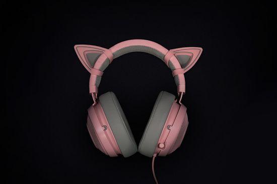 Razer mačja ušesa za Kraken Quartz slušalke