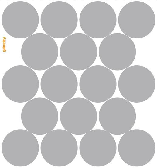 GEKONKY Puntíky šedé 2
