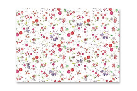 Goldbuch Csomagolópapír Gyümölcsök, fehér 50x70cm