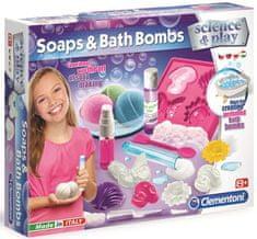 Clementoni Dětská laboratoř Výroba mýdel a koupelnových bomb