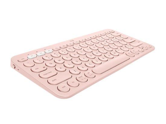 Logitech K380 Multi-Device brezžična tipkovnica, roza, SLO g.
