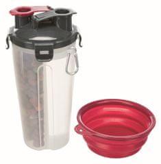 Trixie Cestovní zásobník na vodu a krmivo včetně misky, 2x 0.35 l/11x23 cm