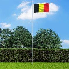 shumee Belgická vlajka a stĺp 6,2 m hliníkový