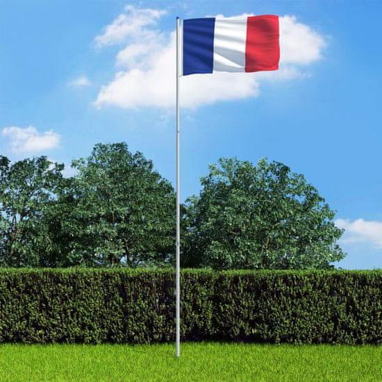 shumee francia zászló alumíniumrúddal 6 m