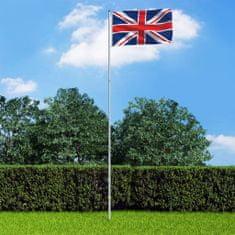 shumee Anglická vlajka a stĺp 6 m hliníkový