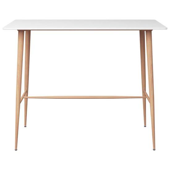 slomart Barska miza bela 120x60x96 cm