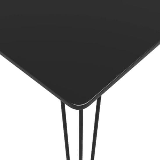 shumee Barska miza črna 120x60x105 cm