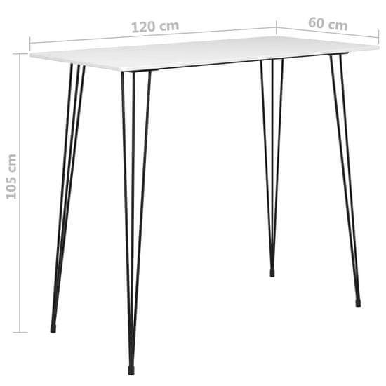 shumee Barska miza bela 120x60x105 cm