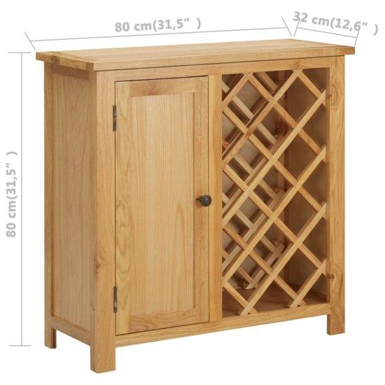 shumee Omarica za vino za 11 steklenic 80x32x80 cm trdna hrastovina