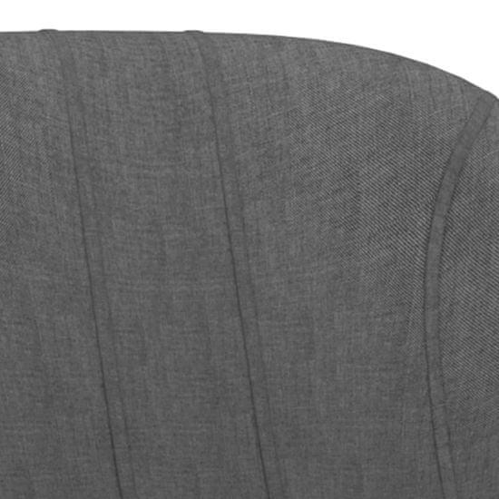 shumee Barski stolčki 2 kosa temno sivo blago