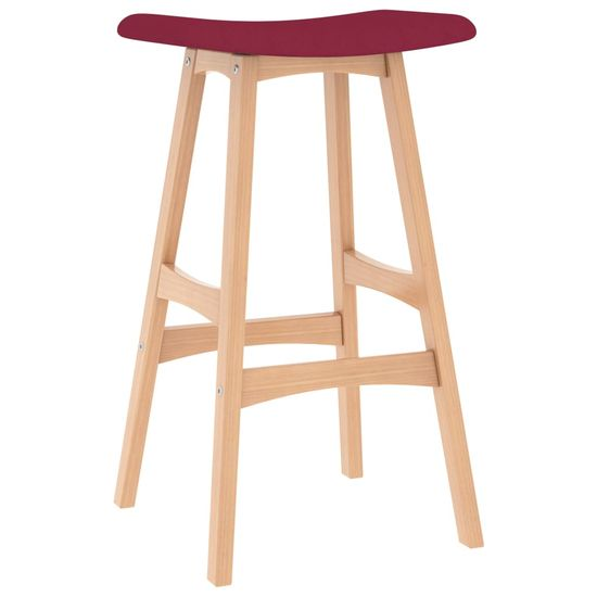 shumee Barski stolčki 2 kosa vinsko rdeče blago