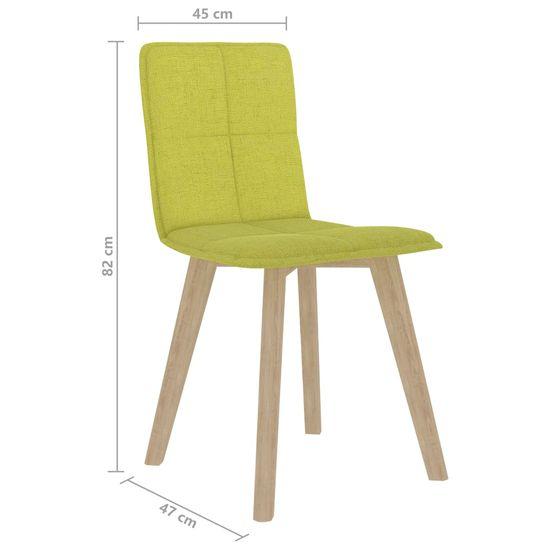 shumee Jedilni stoli 6 kosov gorčično rumeni