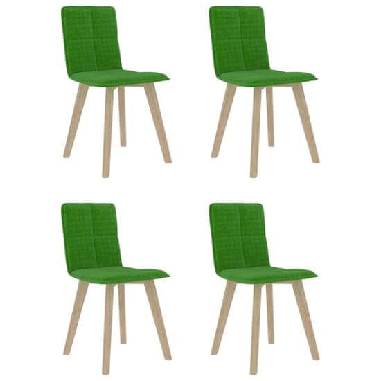 shumee Krzesła stołowe, 4 szt., zielone, tapicerowane tkaniną