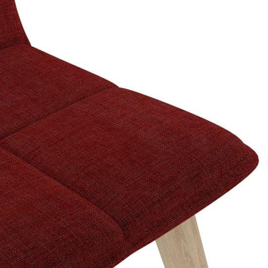 shumee Jedilni stoli 2 kosa vinsko rdeče blago