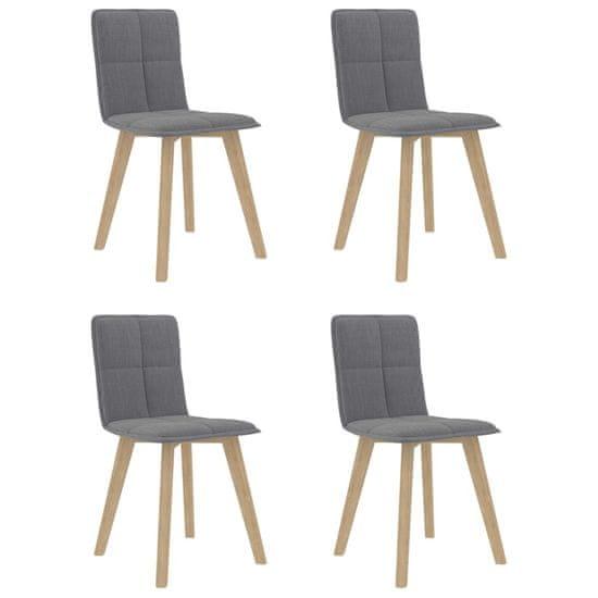 shumee Krzesła jadalniane, 4 szt., jasnoszare, tapicerowane tkaniną