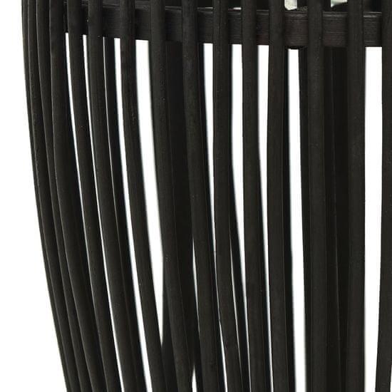 shumee Lampa wisząca, czarna, wiklinowa, 40 W, 21x50 cm, owalna, E27