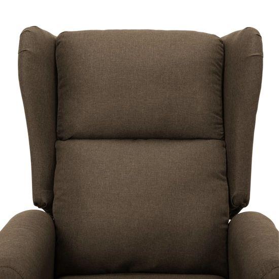 shumee Fotel ułatwiający wstawanie, brązowy, tapicerowany tkaniną