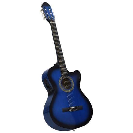 shumee 6 húros kék cutaway western akusztikus gitár equalizerrel