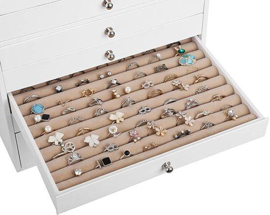 Troli Dizajn bela škatla za nakit JBC10W