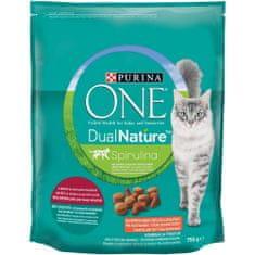 Purina ONE Dual Nature s sterilizirana hrana za mačke z govedino, 8x750 g