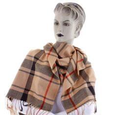 Cashmere Károvaná dámská šála Mirna khaki