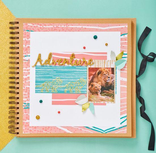 Kroužkové camel album na fotografie a scrapbooking kraft 20 x 20 cm