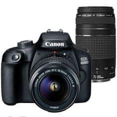 Canon fotoaparat EOS 4000D EF-S 18-55 + 75-300