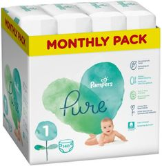 Pampers Pure Protection 1 (2-5 kg) 140 db (4x35 db)