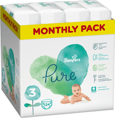 Pampers Pure Protection 3 (6-10 kg) 124 db (4x31 db)