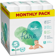 Pampers Pure Protection 5 (11-16 kg) 96 db (4x24 db)
