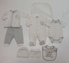 Just Too Cute darilni komplet za dojenčke 7set UNI, zvezdice, 68, siva