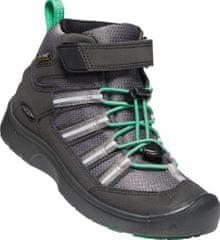 KEEN bőr outdoor gyerek cipő Hikeport 2 Sport Mid WP Y black/irish green, 32.5, fekete