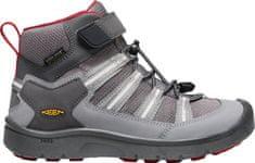 KEEN bőr outdoor gyerek cipő Hikeport 2 Sport Mid WP Y magnet/chili pepper, 32.5, szürke