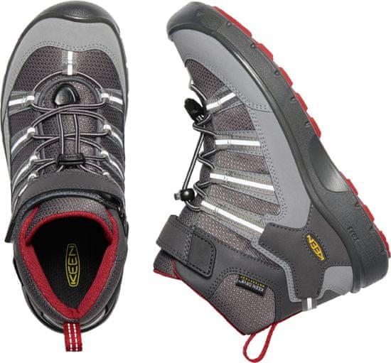 KEEN Hikeport 2 Sport Mid WP Y otroški usnjeni čevlji, magnet/chili pepper