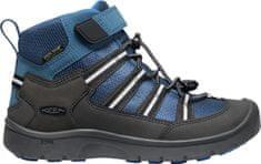 KEEN bőr outdoor gyerek cipő Hikeport 2 Sport Mid WP Y majolica/sky diver, 32.5, sötétszürke
