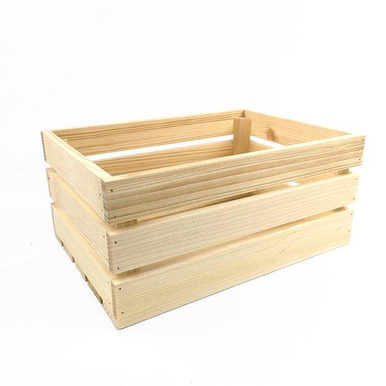 AMADEA Dřevěná bedýnka z masivního dřeva, 34x24x15 cm