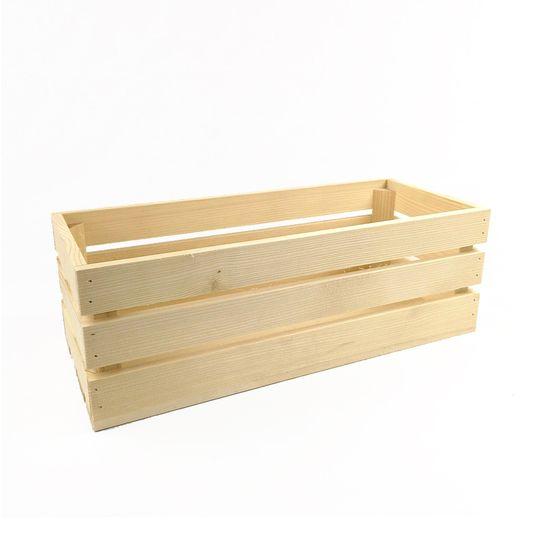 AMADEA Dřevěná bedýnka z masivního dřeva, 45x19x15 cm