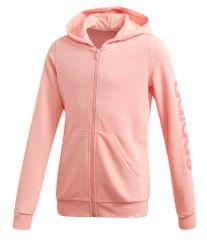Adidas YG E LIN FZ HD jakna za djevojčice, 134, ružičasta