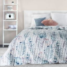 My Best Home Přehoz na postel PRINT 200x220 cm - PEACOCK, prošívaný