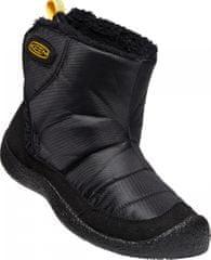 KEEN otroški škornji Howser II MID C black/keen yellow, 24, črni