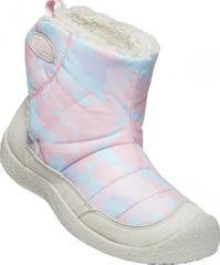 KEEN Dziewczęce śniegowce HOWSER II MID C silver birch/pink blush 24 białe