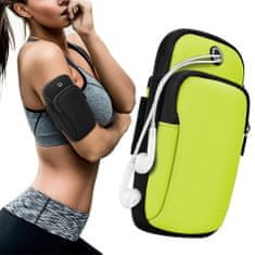 MG Running Armband tekaški etui za telefon, zelena
