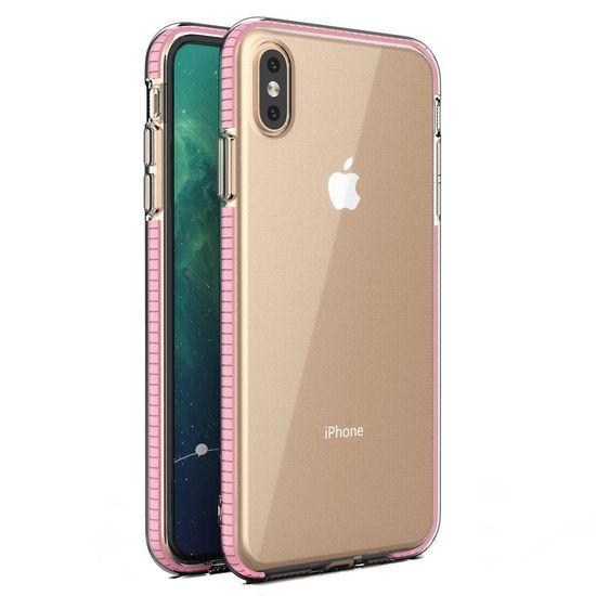 MG Spring Case szilikon tok iPhone XS Max, világos rózsaszín